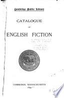 Catalogue of English Fiction Book PDF