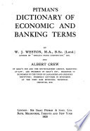 Pitman s Dictionary of Economic and Banking Terms