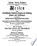 Johann Georg Key  lers         Reisen durch Deutschland  B  hmen  Ungarn  die Schweiz  Italien und Lothringen       3  Ausg