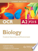 OCR A2 Biology Student Unit Guide  Unit F215 Control  Genomes and Environment