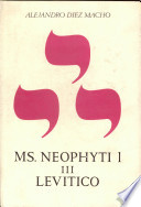 Neophyti 1 Targum Palestinense Manuscrito De La Biblioteca Vaticana Tomo Iii Lev Tico