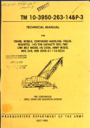 Technical Manual For Crane Mobile Container Handling Truck Mounted 140 Ton Capacity Ded Fmc Link Belt Model Hc 238a Army Model Mhe 248 Nsn 3950 01 110 9224