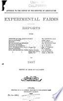 Report of the Dominion Experimental Farms Book PDF