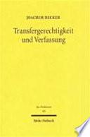 Transfergerechtigkeit und Verfassung