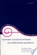Nonlinear Functional Analysis and Differential Equations