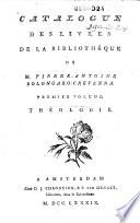 Veilingcatalogus, boeken van Pietro Antonio Bolongaro Crevenna, 26 april tot 15 juni 1790