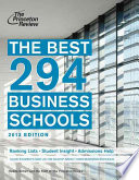 The Best 296 Business Schools  2013 Edition