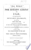 Poor Richard s almanac for 1850 52