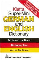 Klett's Super-Mini German and English Dictionary