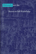 Philosophy And The Return To Self Knowledge book