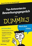 Top-Antworten im Bewerbungsgespräch für Dummies