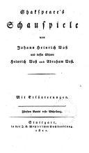 Shakspeare's Schauspiele: Abt. 2: König Heinrich der sechste, zweiter Theil. König Heinrich der sechste, dritter Theil