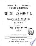 Johann David Michaelis deutsche Übersetzung des Alten Testaments