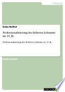 Professionalisierung des höheren Lehramts im 19. Jh.