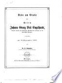 Rede am Grabe des Herrn Johann Georg Veit Engelhardt...