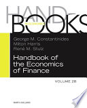 Handbook Of The Economics Of Finance book