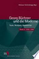 Georg Büchner und die Moderne