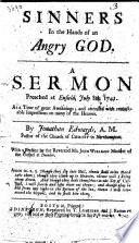 Sinners in the hands of an angry God  A Sermon  on Deut  xxxii  35  preached at Enfield  July 8th  1741     With a preface by     John Willison Book PDF