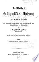 Vollst  ndiges orthographisches W  rterbuch der deutschen Sprache