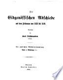 Amtliche Sammlung der   ltern Eidgen  ssischen Abschiede  1245 1798