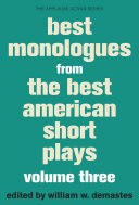 Best Monologues from The Best American Short Plays, Volume Three