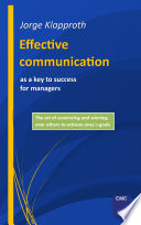 Effective communication as a key to success for managers