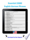 Essential 22000 Phrases In English German