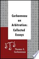 Carbonneau on Arbitration