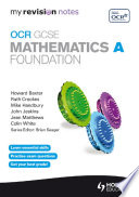 My Revision Notes Ocr Gcse Specification A Maths Foundation Epub