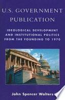 U S  Government Publication