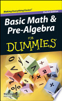 Basic Math and Pre Algebra For Dummies