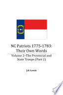 NC Patriots 1775 1783  Their Own Words  Volume 2  Part 2