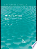 The Great Powers  Routledge Revivals