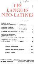 Les Langues n  o latines
