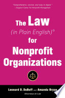 The Law In Plain English For Nonprofit Organizations