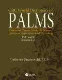 CRC World Dictionary of Palms Amazing And Useful Works Through The Various Dictionaries