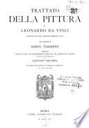Trattato della pittura di Leonardo da Vinci condotto sul cod  vaticano urbinate 1270