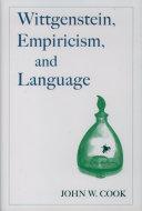 Book Wittgenstein, Empiricism, and Language