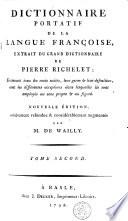 Dictionnaire portatif de la langue française