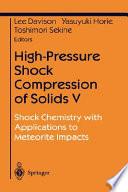 High Pressure Shock Compression of Solids V