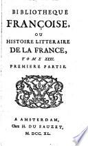 Bibliothèque françoise ou Histoire littéraire de la France