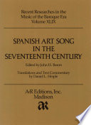 Spanish art song in the seventeenth century