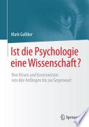 Ist die Psychologie eine Wissenschaft