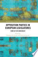 Opposition Parties in European Legislatures
