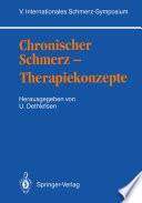 Chronischer Schmerz — Therapiekonzepte