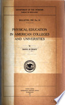 Physical education in American colleges and universities Book PDF