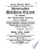Nürnbergisches Gelehrten-Lexicon oder Beschreibung aller Nürnbergischen Gelehrten beyderley Geslechtes nach ihrem Leben, Verdiensten und Schrifften