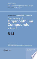 The Chemistry of Organolithium Compounds, Volume 2