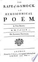The Rape of the Smock  an Heroi comical Poem  in Two Books     Second Edition