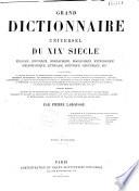 Grand dictionnaire universel du XIXe si  cle  A Z  1866 70